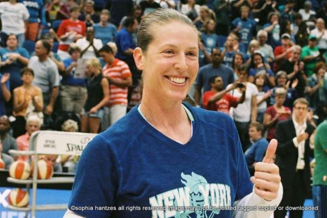 Former Minnesota Lynx Player Katie Smith was honored at the Minnesota Lynx v New York Liberty. game at the Target Center.  Smith played for the Lynx from  1999-2005.  This is her last season as a WNBA player. The Lynx won the game 88-57.
