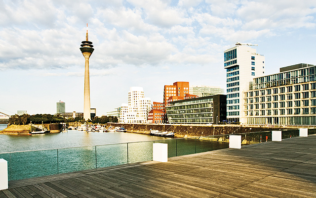 Media Harbor and Rhine Tower. Photo courtesy of iStockphoto