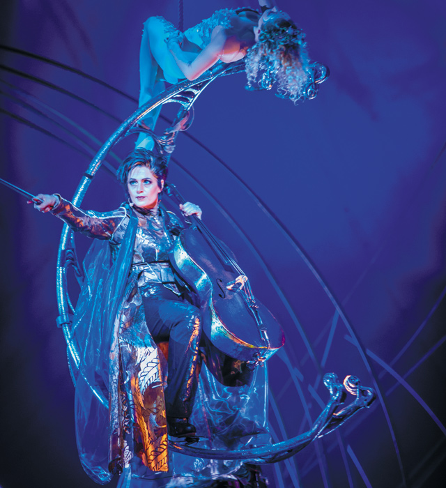 Prospera with the Moon Goddess. Photo courtesy of Cirque du Soleil - Amaluna