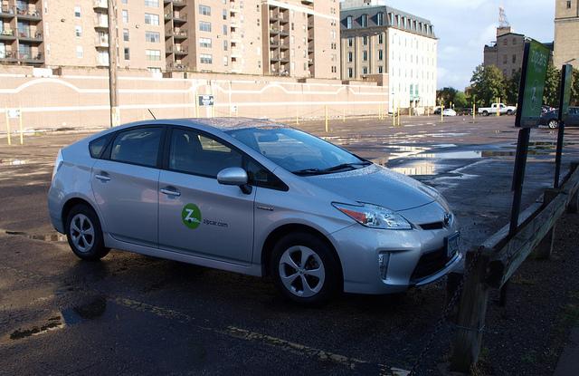 Zipcar's Toyota Prius in Downtown Minneapolis