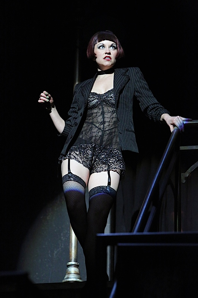 "Kira Lace Hawkins (Sally Bowles) in Theater Latté Da and Hennepin Theatre Trust's production of ""Cabaret"""