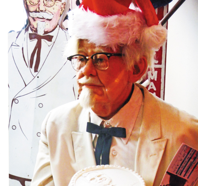 Col. Sanders, one of the town heroes. Photo by Carla Waldemar