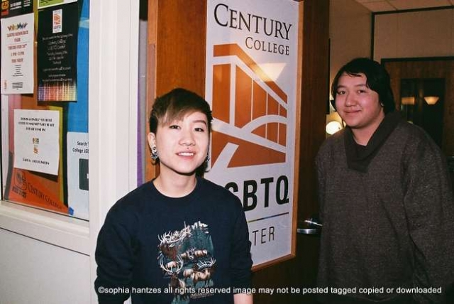 l-r Skye Vang Student Valerie Vo Student LGBTQ Center  Century College