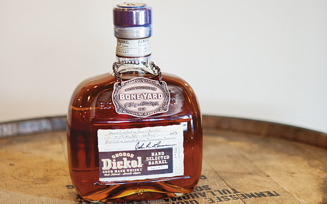 Dickel gave BoneYard their own cask of whiskey from which there are a number of these beautiful bottles to be enjoyed.