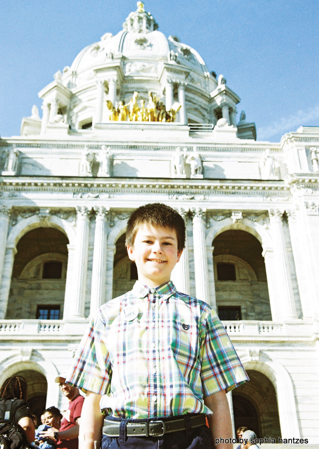Jake Ross, 11, of Forest Lake, has been a young champion for this legislation. Photo by Sophia Hantzes