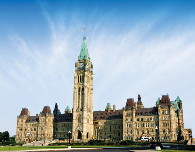 Ottawa Parliament Hill Centre Block, Ottawa. Photo courtesy of © Ottawa Tourism