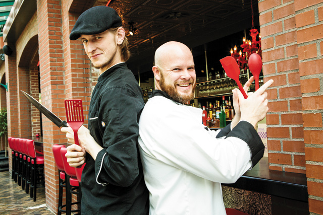 Executive Chef Adam Icard and Craig Ball. Photo by E. Katie Holm