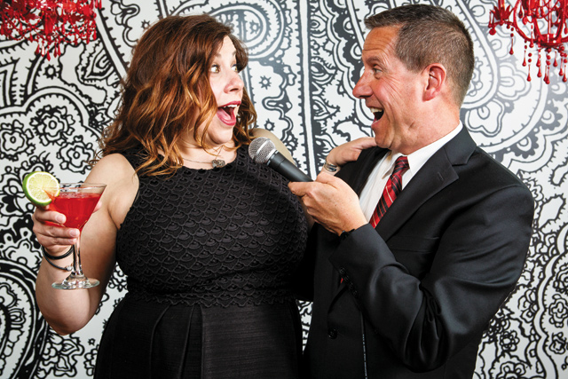 Erin Schwab and Jay Fuchs provide Cabaret Power on stage at Mattie's.  Photo by E. Katie Holm