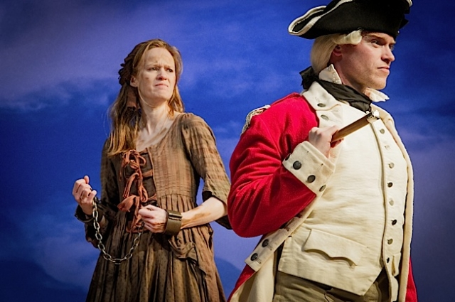 Kathryn O'Reilly (Liz Morden) and Richard Neale (Major Ross). Photo by Robert Workman.