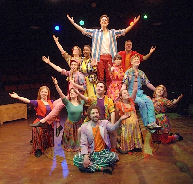 The cast of Godspell. Photo courtesy of Theatre in the Round and Act One, Too, Ltd.