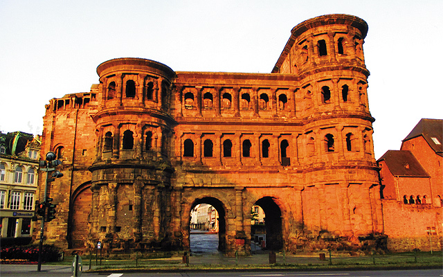Trier's landmark Porta Nigra, a Roman gate. Photo by Carla Waldemar