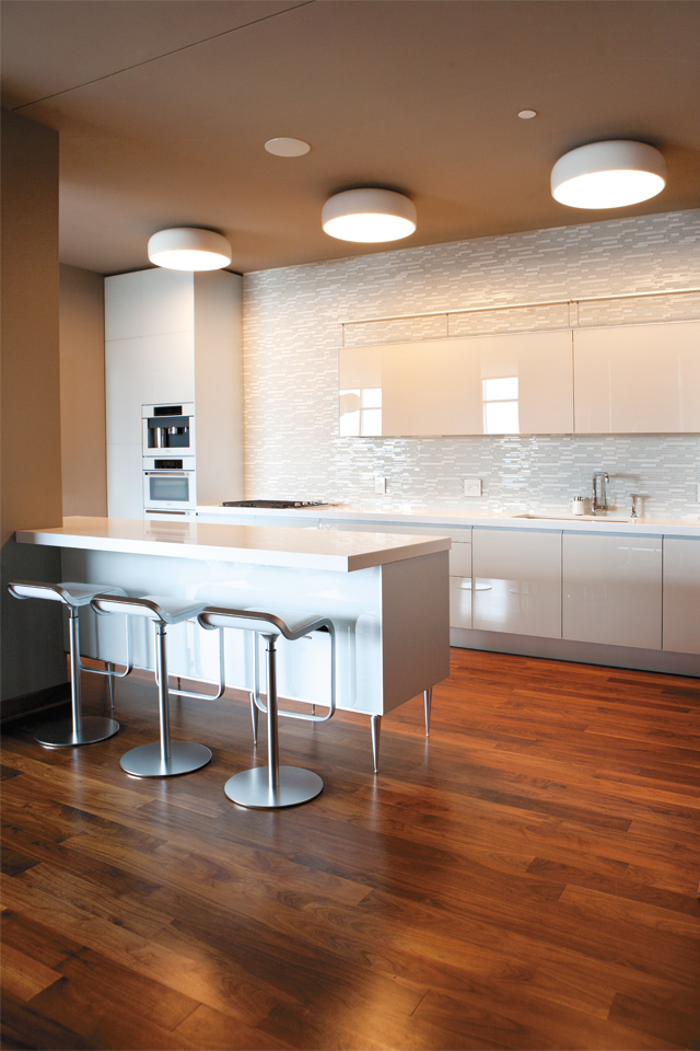 The two women who share this home in Edina went to Valcucine looking for modern, minimalist, and clean cabinetry. Photo by Hubert Bonnet