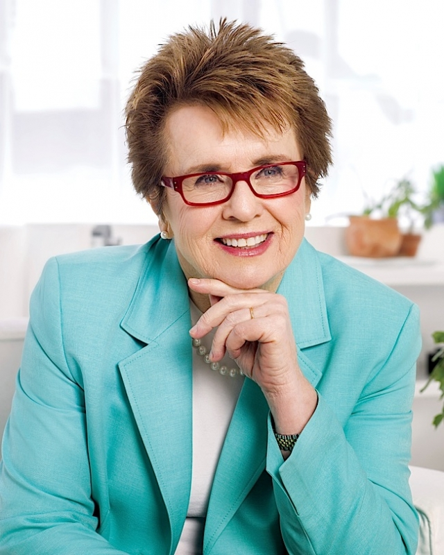 Billie Jean King, photo courtesy of Windy City Times.