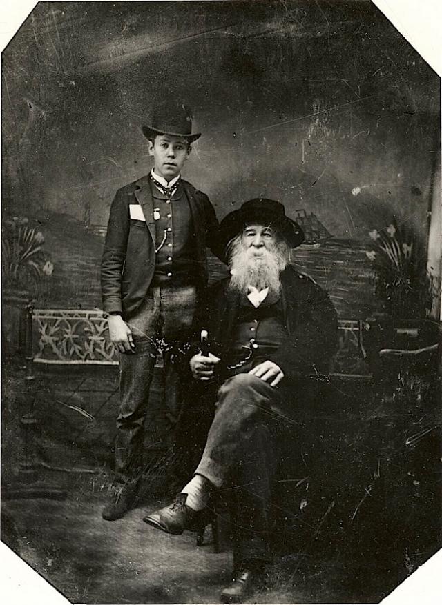 Bill Duckett and Walt Whitman.