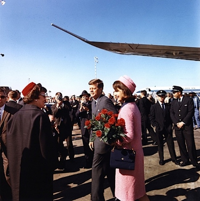 President and Mrs. Kennedy arriving at Love Field in Dallas the day of the assassination Credit: Cecil Stoughton.