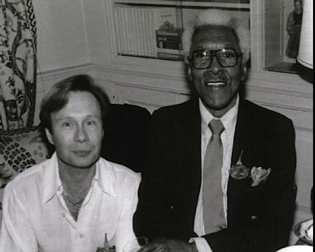 A historian is working to nominate the Manhattan apartment where Bayard Rustin, right, lived with his partner, Walter Naegle, to be listed on the National Register of Historic Places. Naegle still resides there.