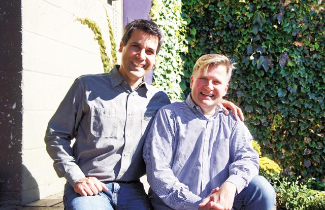 Timothy Ferraro & Mark Hauck. Photo by Michael Fell