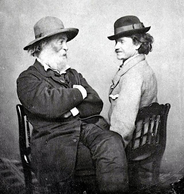 Walt Whitman and Peter Doyle, circa 1869.