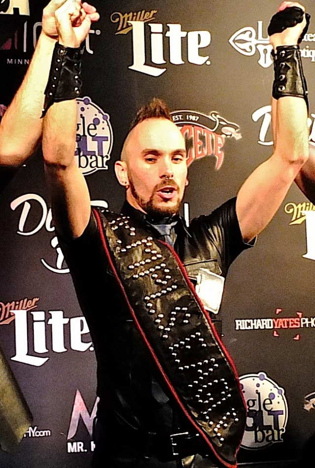 Ren Rushold, moments after being selected Mr. Minneapolis Eagle 2015. Photo by Steve Lenius.