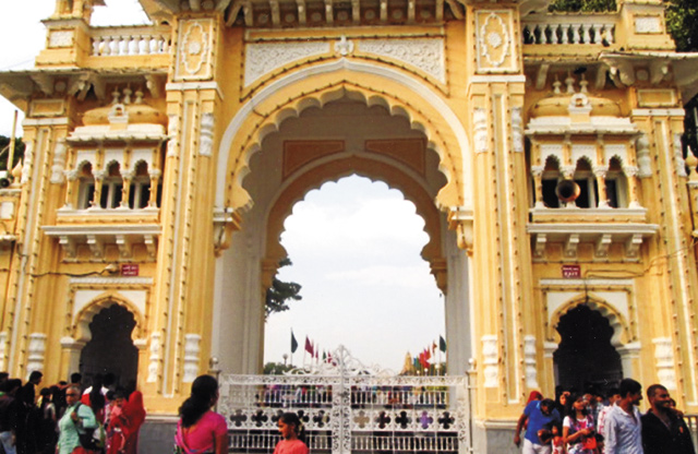 Grand gateway to a maharaja's palace. Photo by Carla Waldemar