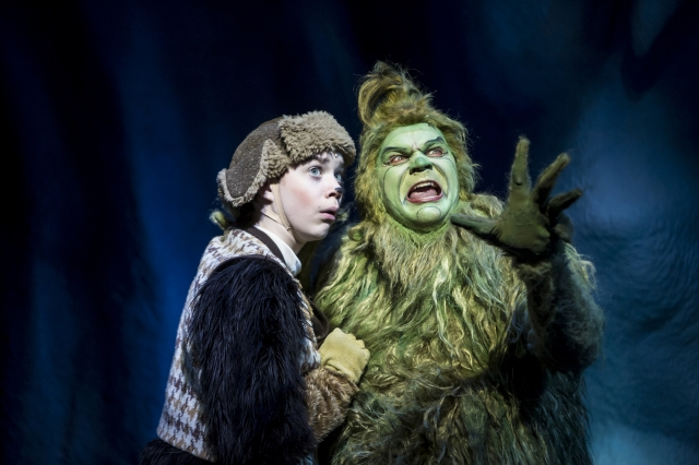 Max (Brandon Brooks) and the Grinch (Reed Sigmund) decide to steal Christmas Photo by Dan Norman