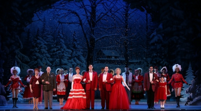 James Clow and the touring cast of Irving Berlin's White Christmas. Photo by Kevin White