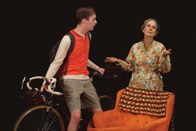 Gabriel Murphy (plays Leo Joseph-Connell) and Linda Kelsey (plays Vera) in 4000 Miles.  Photo by Petronella Ytsma