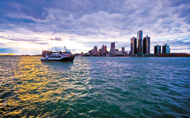Detroit skyline. Photo by Vito Palmisano