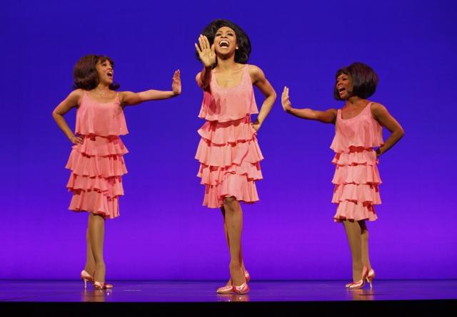 "Krisha Marcano (Florence Ballard), Allison Semmes (Diana Ross) & Trisha Jeffrey (Mary Wilson) as The Supremes, singing ""Stop! In The Name of Love"""