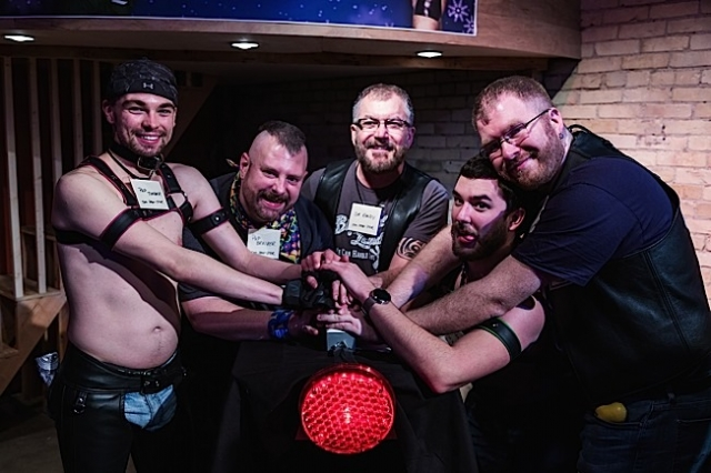 The Impawsters, the first-place leather family in the Leather Families Feuding for Charity tournament. Photo by Andrew Bertke.