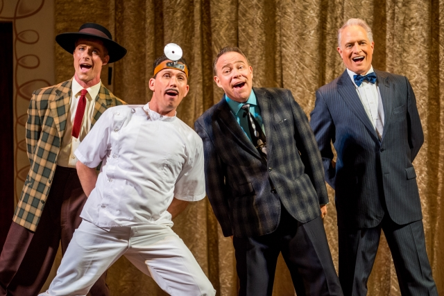 (From left) Richard Strimer, Carlos Martin, Mark Christopher Tracy and Gregory Franklin in the national tour of I Love Lucy Live On Stage Photo by Justin Namon