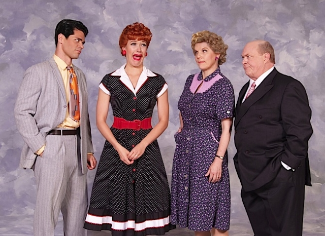 Euriamis Losada (Ricky), Thea Brooks (Lucy), Lori Hammel (Ethel) and Kevin Remington (Fred). Photo by Ed Krieger.
