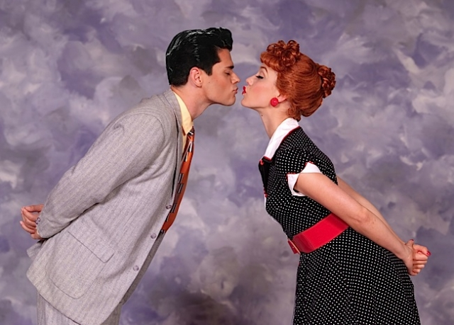 Thea Brooks as Lucy and Euriamis Losada as Ricky. Photo by Ed Krieger.