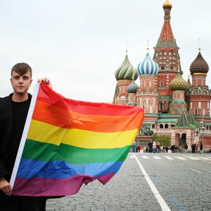 Billy Lloyd outside the Kremlin Photo by Anastasia Soldatkina.