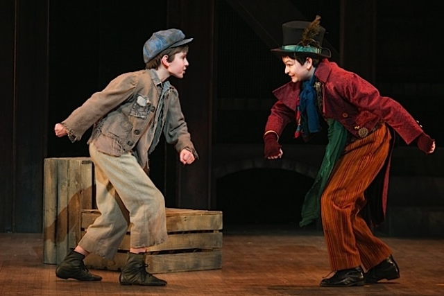 Nate Turcotte as Oliver and Alec Fisher as The Artful Dodger. Photo by Heidi Bohnenkamp.