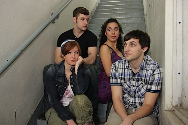 The cast of Calvin Berger- Kecia Beth Rehkamp, Logan Greene, Emily Madigan and Gregory Adam.