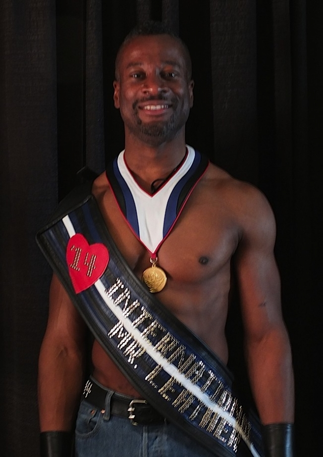 Ramien Pierre, International Mr. Leather 2014. Photo by Steve Lenius