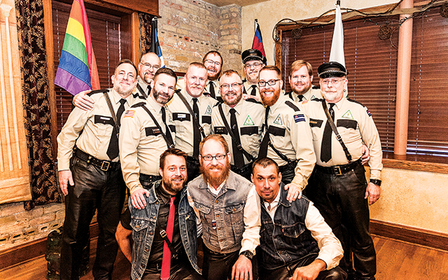 Family portrait: Atons full club members and pledges. Photo by Everett Allen Photography