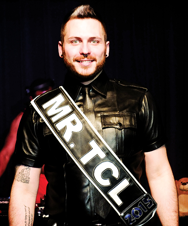 Stephen Patton, Mr. Twin Cities Leather 2015. Photo by Steve Lenius.