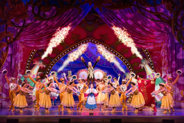 Be Our Guest - Jillian Butterfield and the cast of Disney's Beauty and the Beast. Photo by Matthew Murphy.