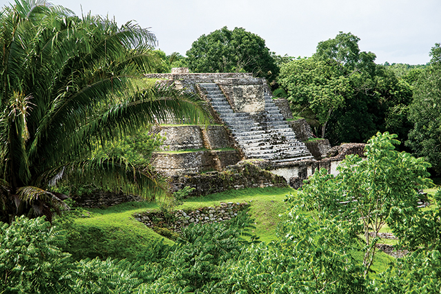 The ruins at Caracol are nestled within the jungle in the Cayo District.