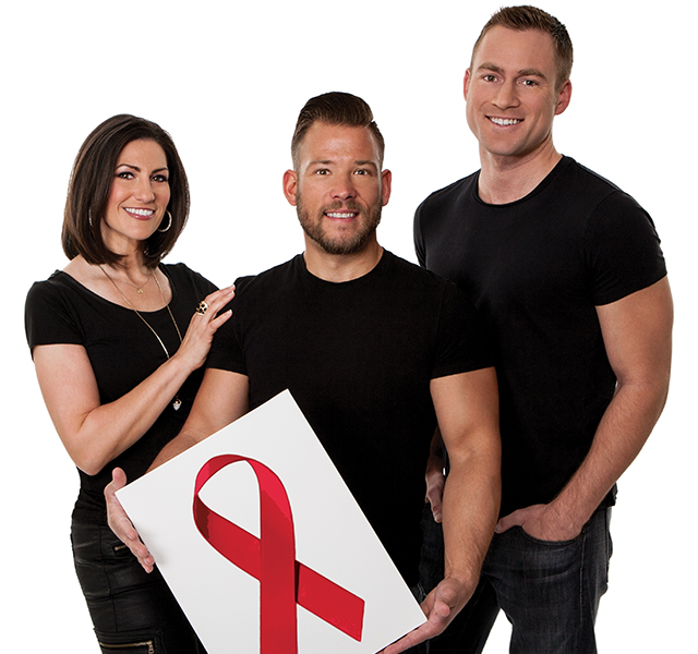 "Blake McCoy, Sven Sundgaard, and Rena Sarigianopoulos want you to ""Dine Out, Fight AIDS"" at Dining Out for Life for The Aliveness Project. Photo by Mike Hnida"