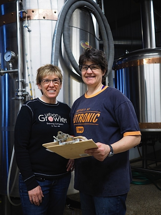 Owners Jill Pavlek and Deb Loch confer. Photo by Ethan Boatner.