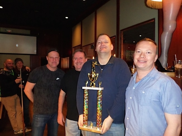 First Place TCGPL Team of the Year, Bar Zia I, (from left) Joel, John, Troy, Brant. Photo by George Holdgrafer.