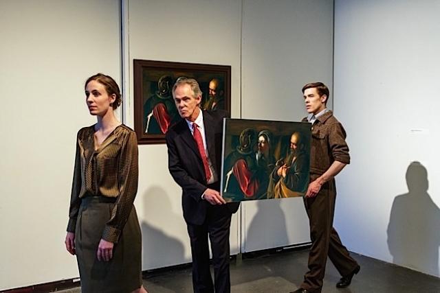 (L to R): Cynthia Hornbeck, Art Peden, Nicholas Nelson. Photo by Mathieu Lindquist.