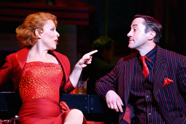 Tari Kelly as Lola and Monte Wheeler as Mr. Applegate in Damn Yankees