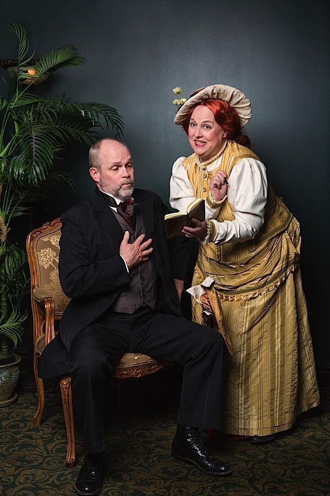 Alan Sorenson as Horace Vandergelder and Karen Wiese-Thompson as Dolly Levi. Photo by Richard Fleischman.