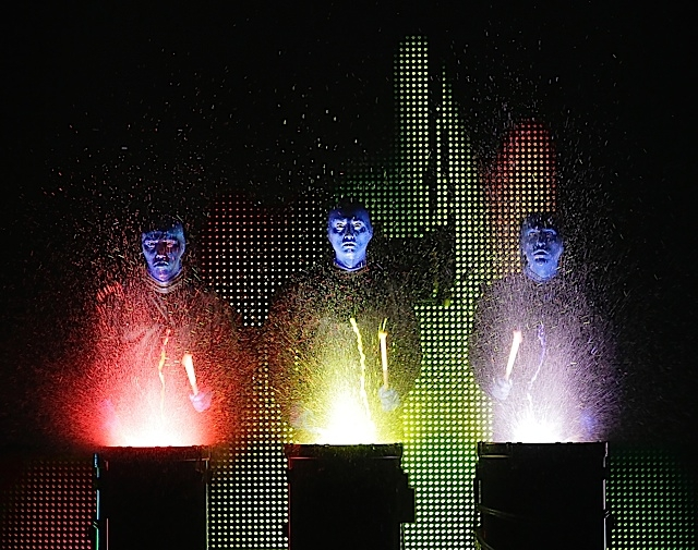 Blue Man Group. Photo by Paul Kolnik