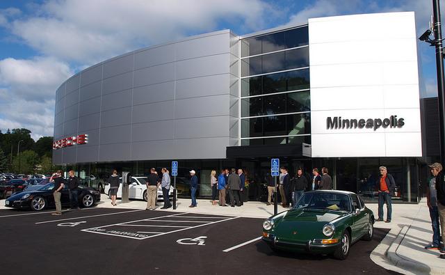 The new Porsche Minneapolis showroom in Golden Valley