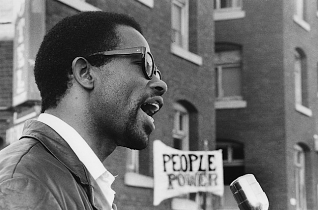 Eldridge Cleaver, Berkeley. Photo courtesy of Jeffrey Blankfort.